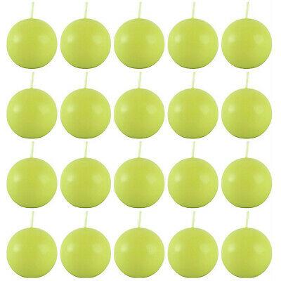 20 Stück Müller Kugelkerzen 55 mm Ball Kugelkerze (5 Pack x 4er) Maigrün