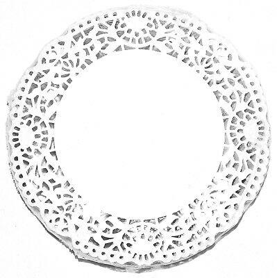 250 Stück Tortenspitzen Tortenpapier Untersetzer Tellerdeckchen Ø 15 cm weiß