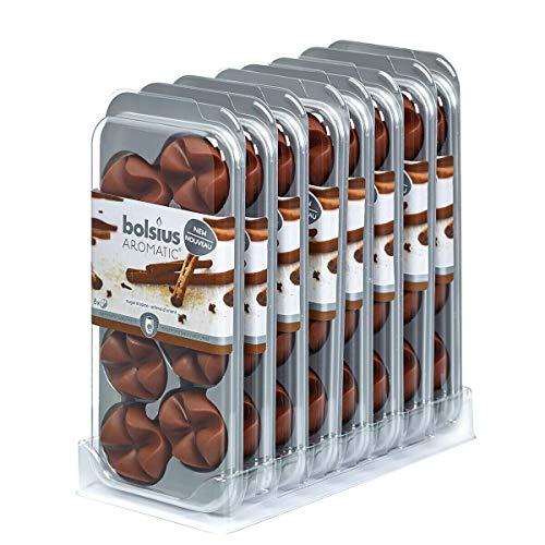 64 Stück Bolsius AROMATIC Wax Melts Wachs Duft Schmelzblüten versch. Düfte (8x8er) (Sugar & Spice W87)