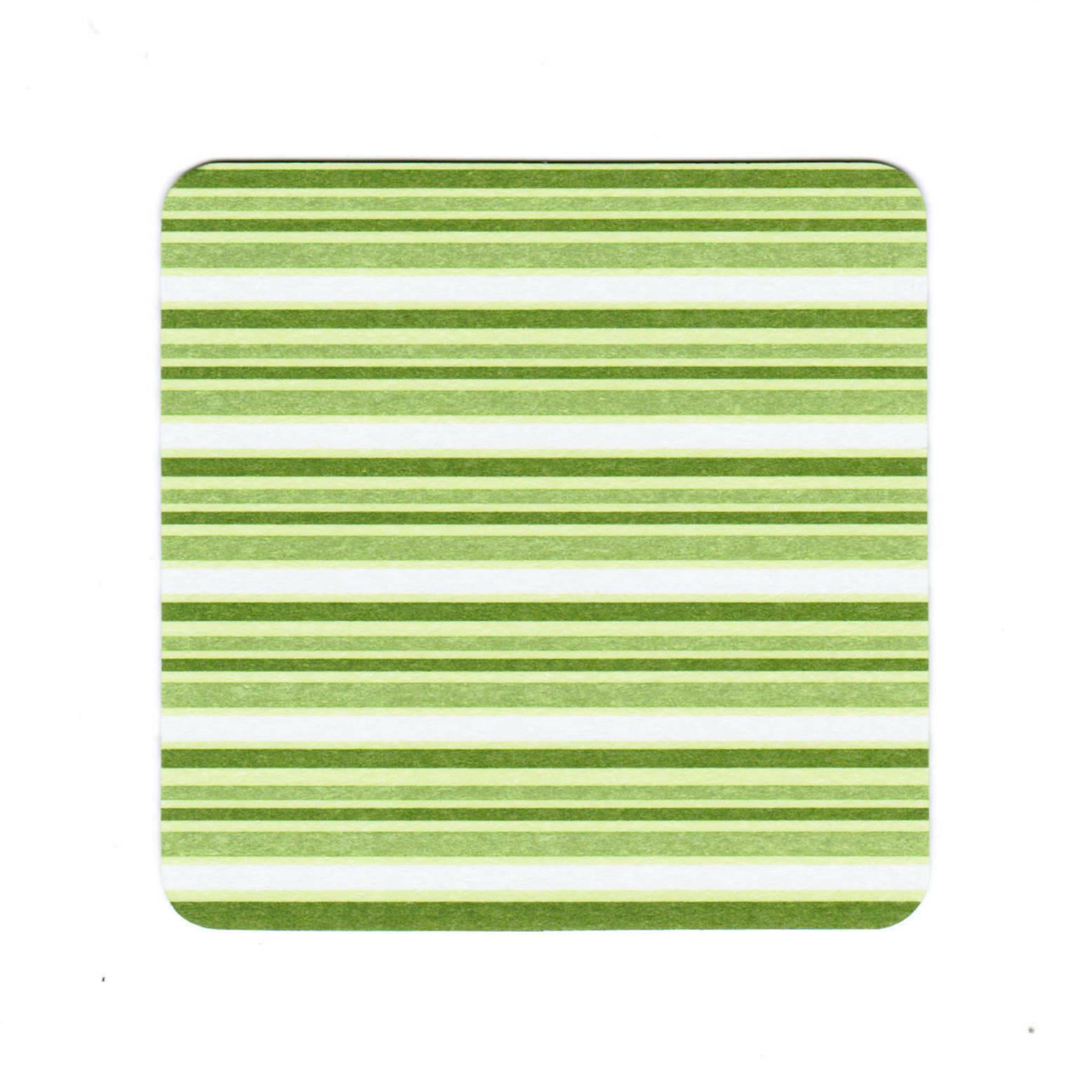 60 - 120 Stück Untersetzer für Gläser Tassen 9x9 cm Bierdeckel Pappe Grün/ Blau - 60 x Grün