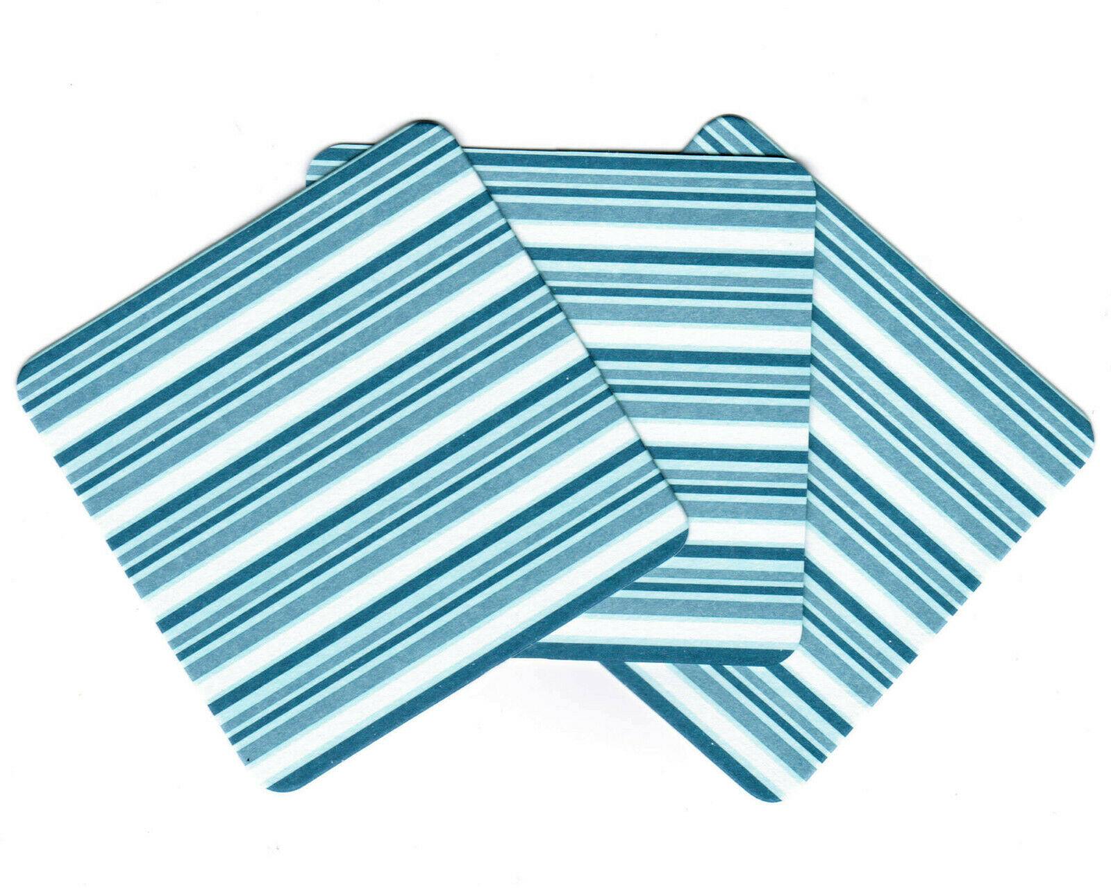 288 Stück Bierdeckel Untersetzer für Gläser Tassen 90x90mm eckig Pappe Grün/Blau - Blau