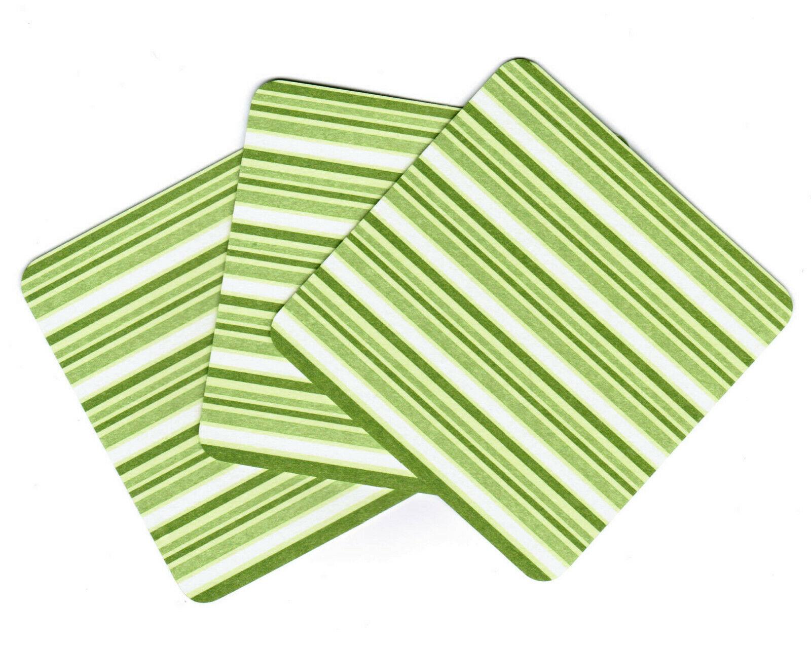 288 Stück Bierdeckel Untersetzer für Gläser Tassen 90x90mm eckig Pappe Grün/Blau - Grün