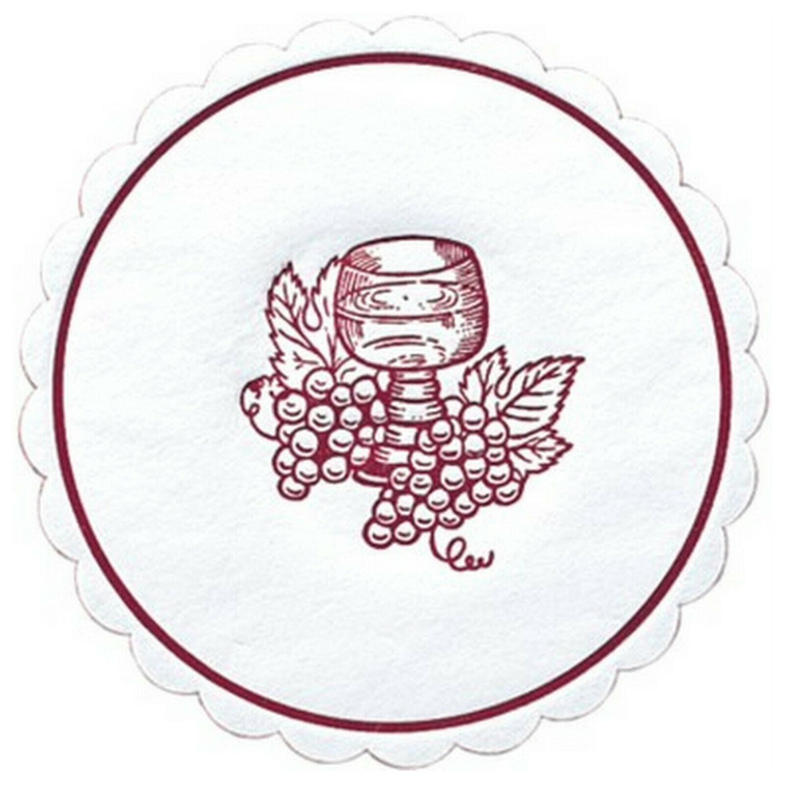 1.500 x Untersetzer Ø 10,5cm Tassendeckchen 9-lagig Papier Tropfdeckchen Traube - Bordeaux