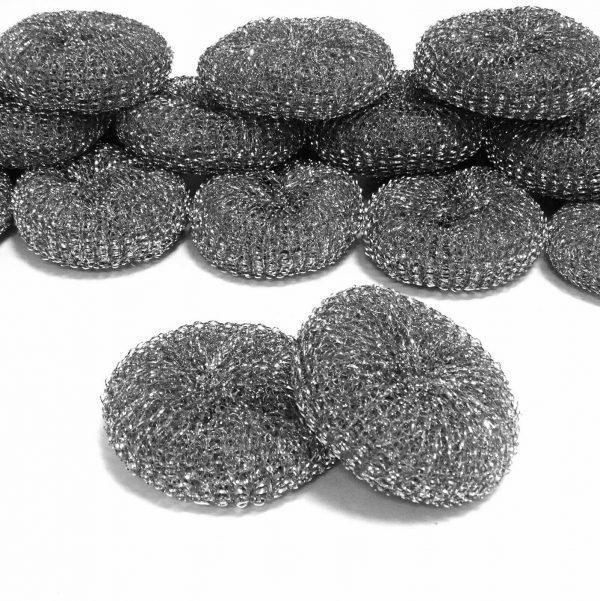 10 - 50 Topfreiniger rund Ø 10,5 cm Metall Topfkratzer Scheuerreiniger Schwamm  - 50 Stück
