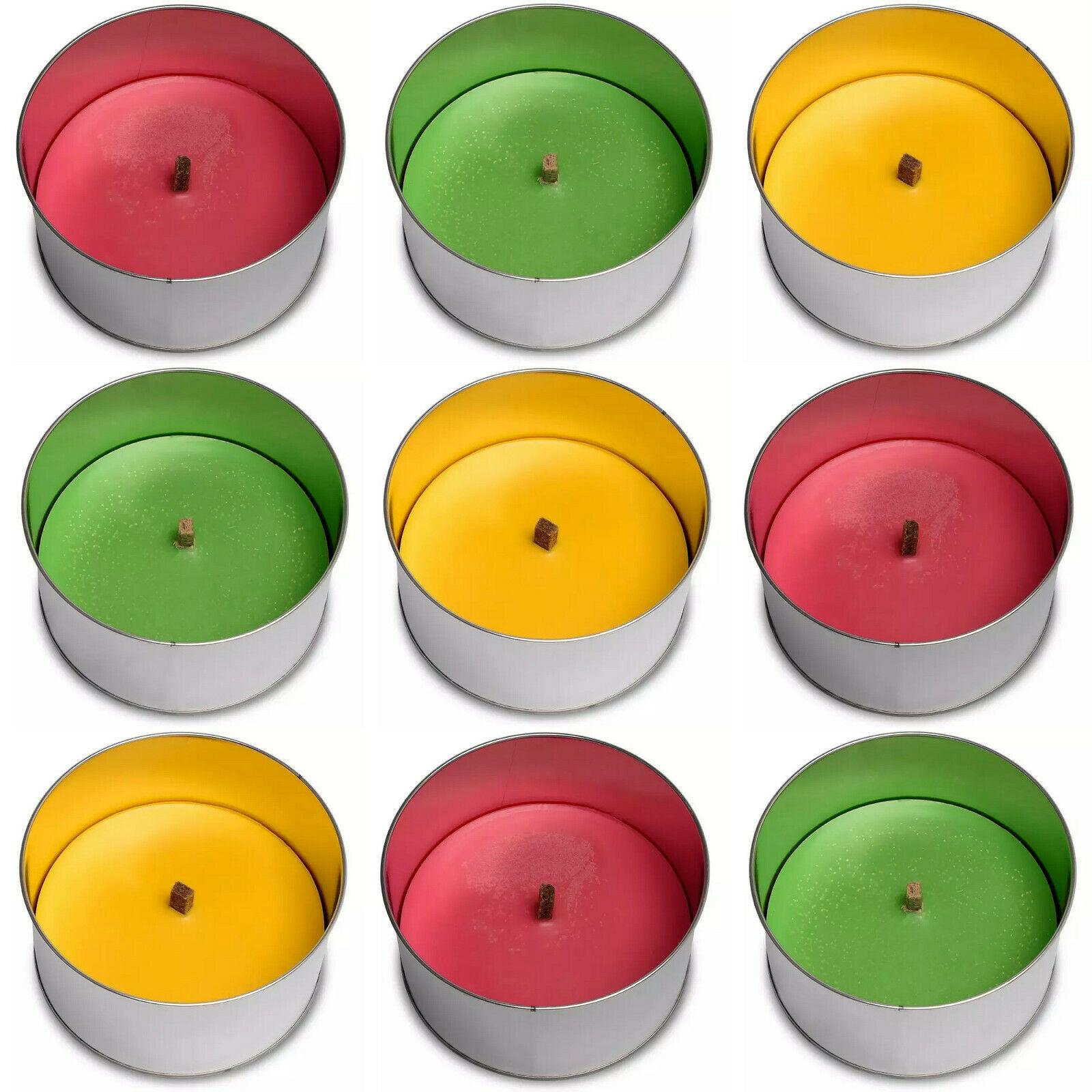 10 x Maxi Flammschalen 158x80 mm Feuerschalen Outdoor Partyfeuer Grün Gelb Pink