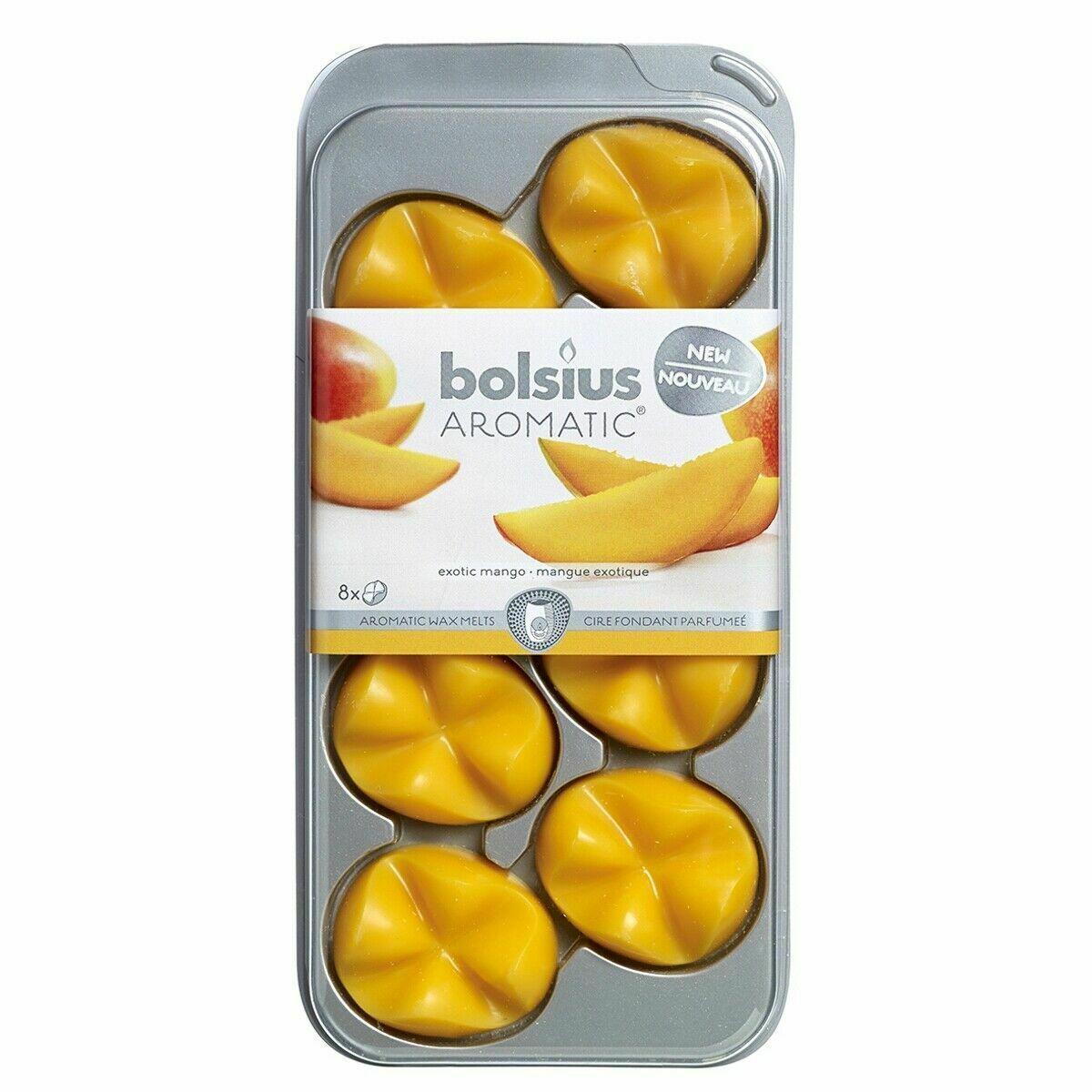 Bolsius AROMATIC Wax Melts 8er Pack Wachs Duft Schmelzblüten verschiedene Düfte