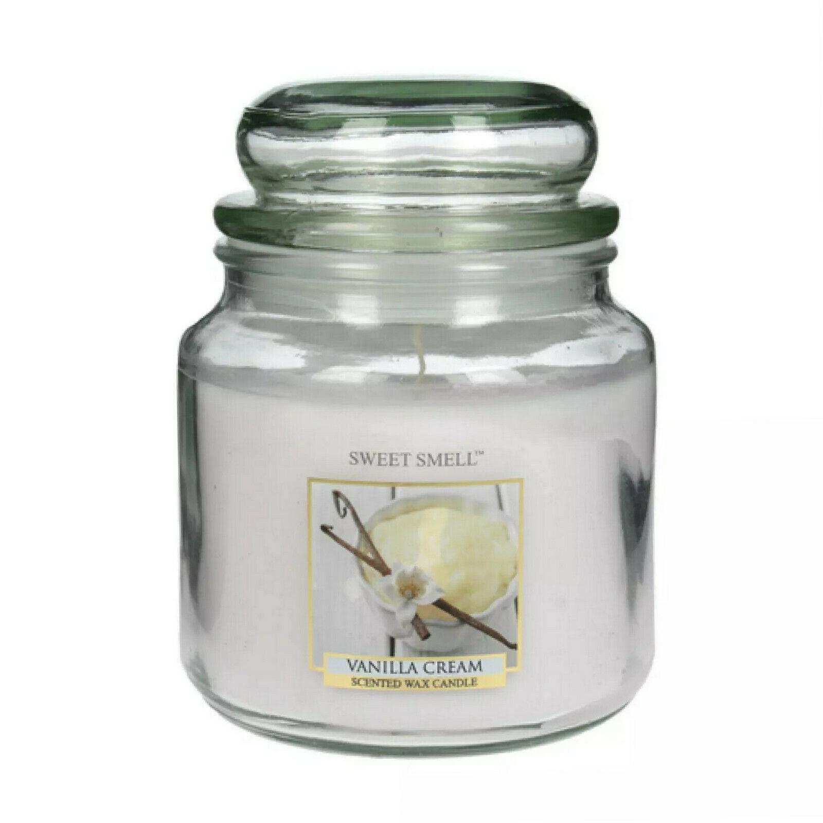 SWEET SMELL Duftkerze im Glas 135x100 mm 426g Wachs Medium Kerzenglas mit Deckel