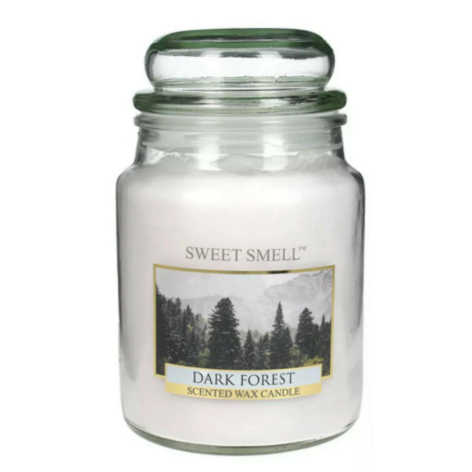 SWEET SMELL Duftkerze im Glas 165x100 mm 568g Wachs Großes Kerzenglas mit Deckel
