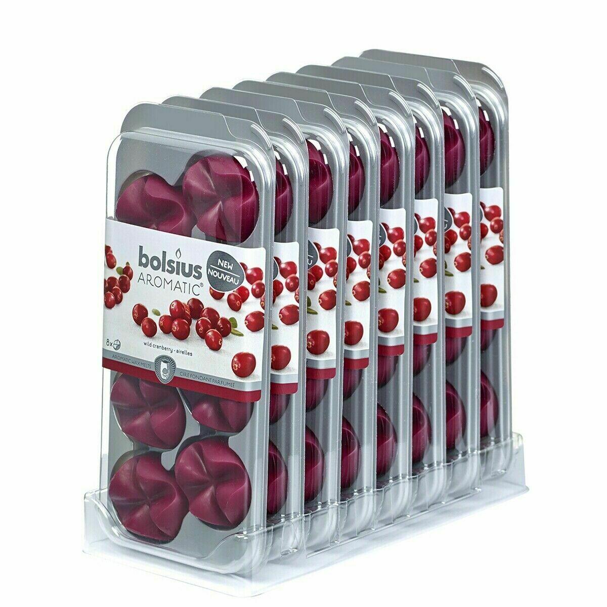 64 Stück Bolsius AROMATIC Wax Melts Wachs Duft Schmelzblüten Düfte (8x8er)