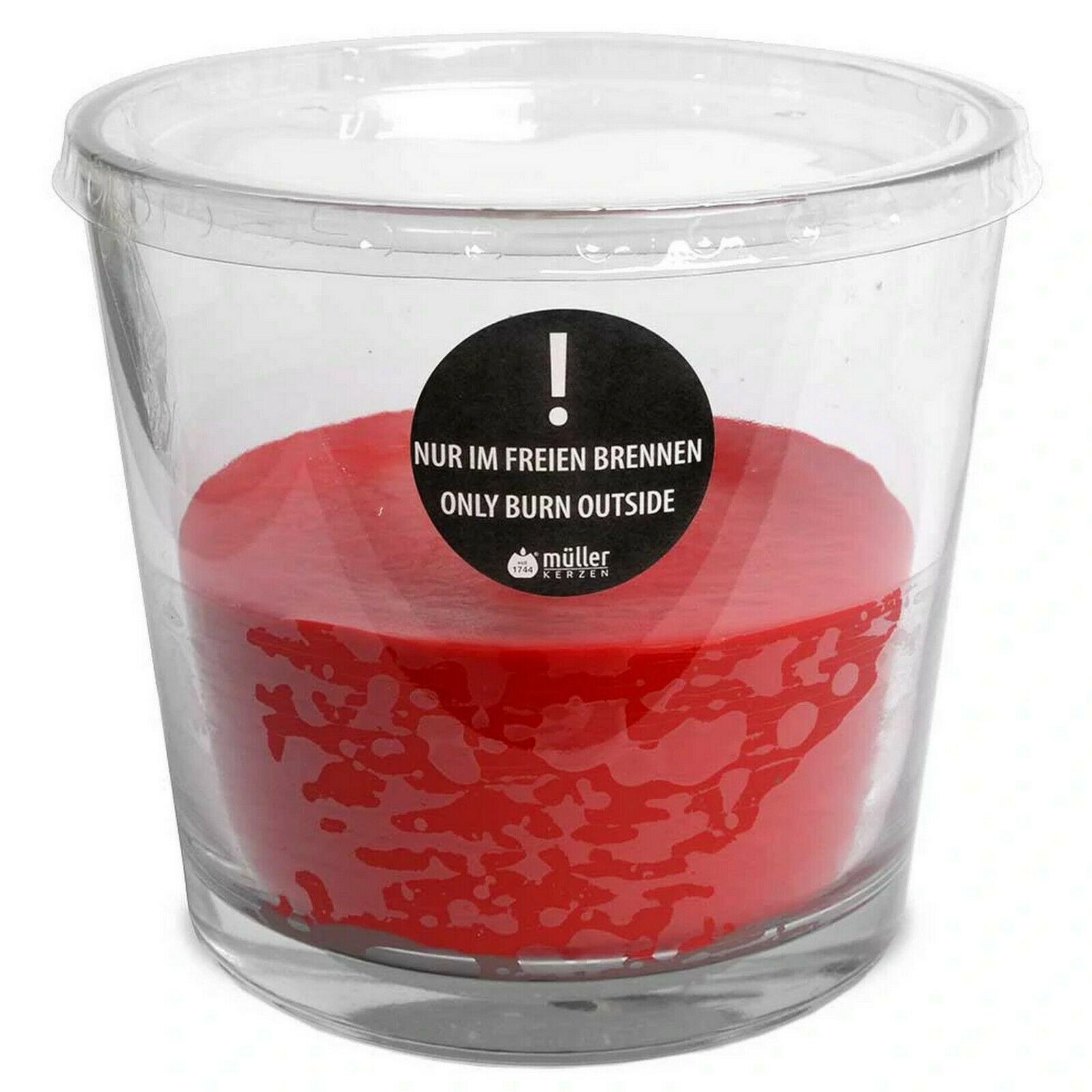 XXL Outdoor Kerzenglas Kerze im Glas Ø 170x160mm 2,7kg Gartenkerze Feuerschale