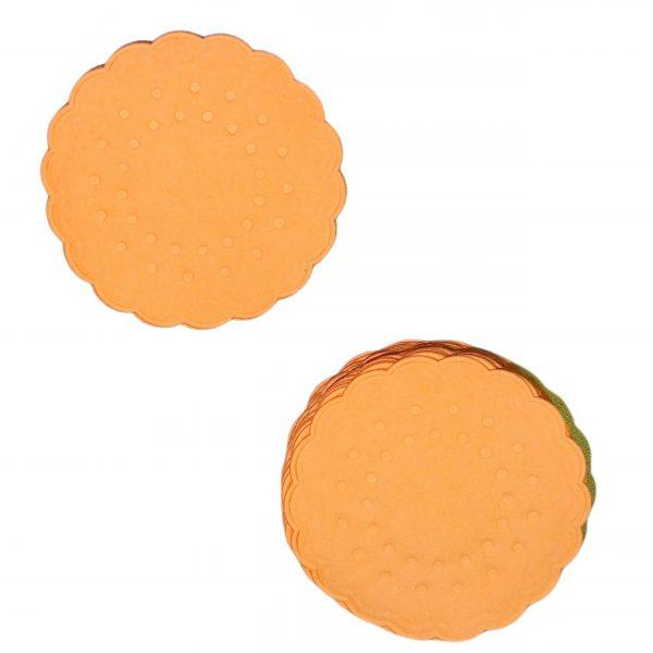 6.000 Untersetzer 75mm rund 8-lagig Papier Tassendeckchen - Apricot